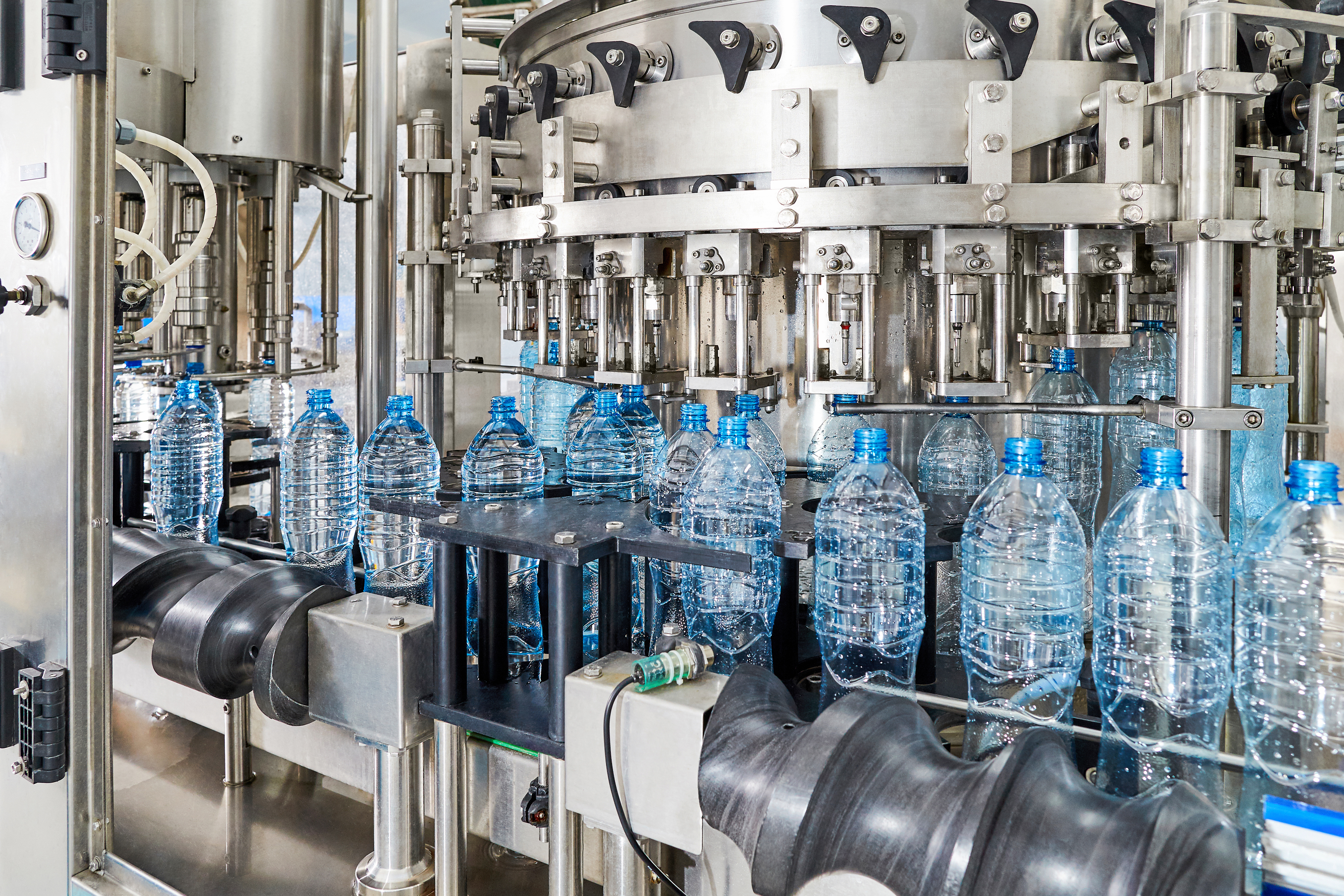Automated water bottle production