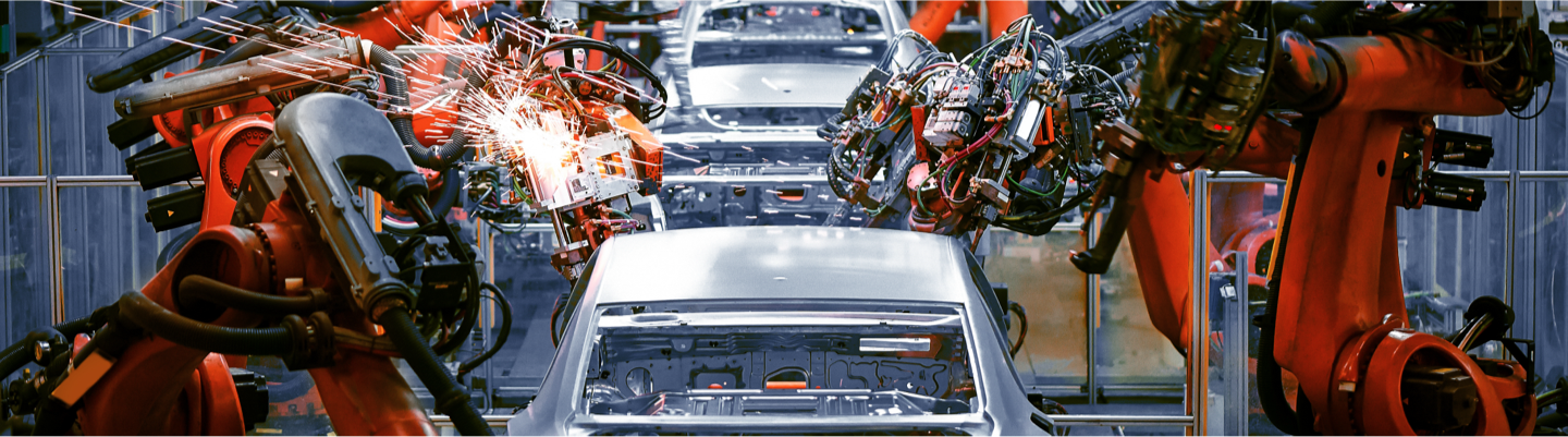 Process control and automation increase throughput in automative manufacturing.