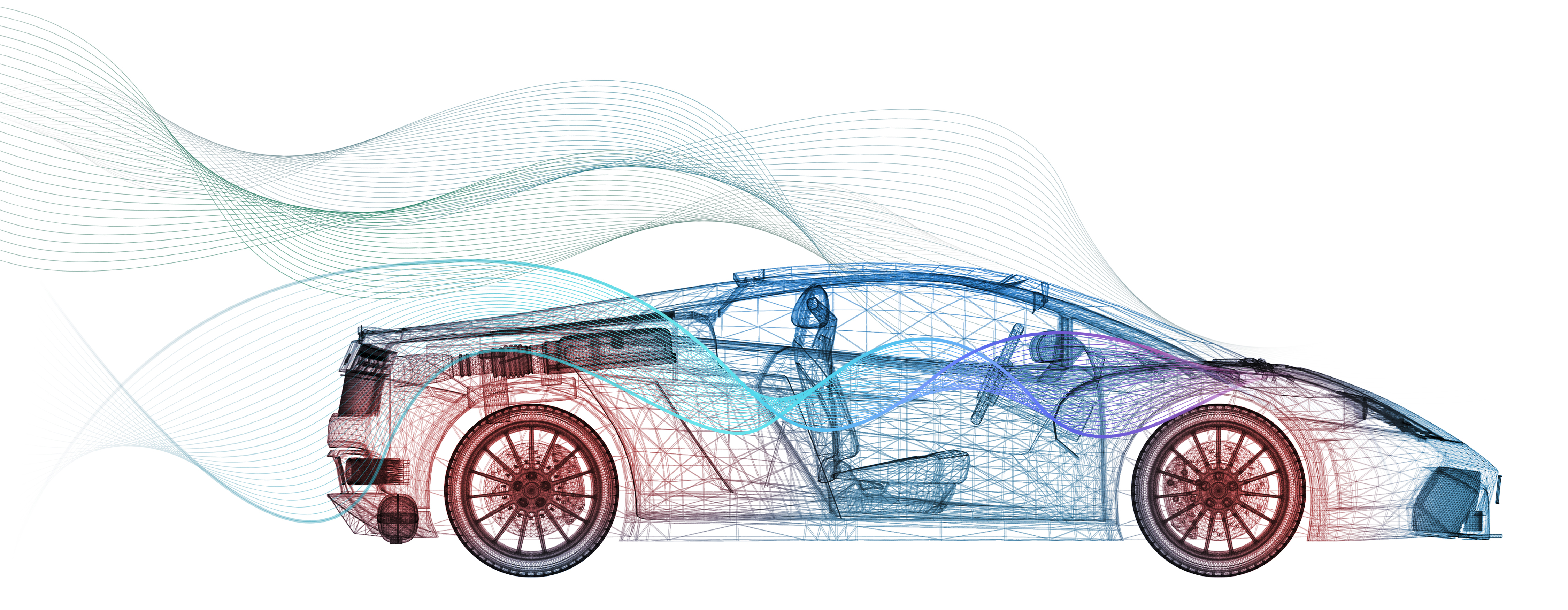 Artistic rendering of automotive thermal imaging